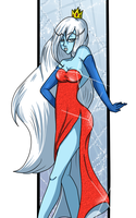 Ice Queen in a Jessica Rabbit outfit by eente