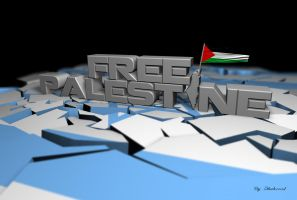 Free Palestine 3D by shaheeed