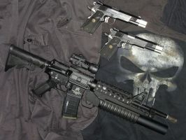 My punisher's airsoft gear by OniPunisher