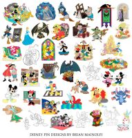 Disney Pins by BrianMainolfi