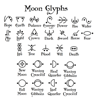 Moon glyphs by Zapphyre