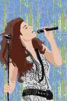 Idina Rocking it Out by ADQuatt