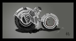 Two Wheeled Vehicle Concept by mitchfuboy