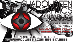 Shadowseen Business Card 3d by andro140