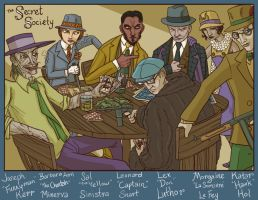 Jazz Age JLA Villains by genesischant