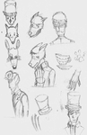 sketch dump: Professor Layton and others by crazyartist12