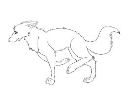 Fox Lineart by VivaLaNiccals