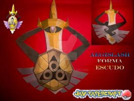 Aegislash shield form papercraft by javierini