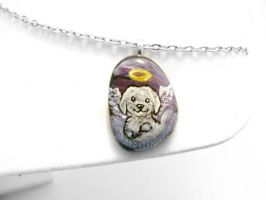 Shih Tzu Dog Pendant Necklace / Sold by sobeyondthis