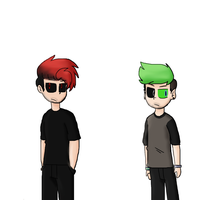 My designs of Dark and Anti | Antiseptiplier by Puppyrelp