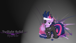 Twilight solid Sparkle wallpaper by LeonBrony