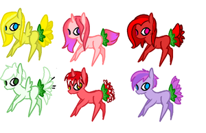 Flowertail pony adoptables CLOSED by Lolzeeh