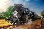 Steam locomotives 555.3008 by sstando