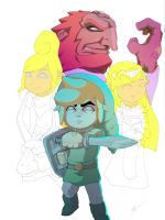 wind waker tribute half some.. by Link-artist
