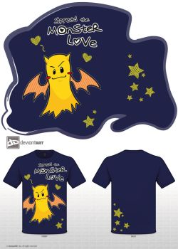 Spread the Monster Love - navy version by melon-banzai