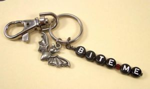 Vampire Bat Keychain by BastsBoutique