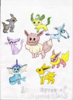 Eevee Evolutions by sammyslion