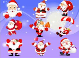 Free Vector Santa Claus by VectorDownload