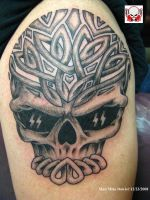 Celtic Skull Tattoo by madtattooz