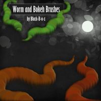 Worm and Bokeh Brushes by Black-B-o-x