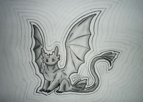 Shadows with pencil attemps (Toothless lineart) by Nightfury-Treann