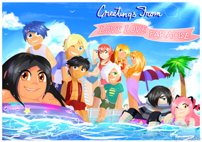 Greetings from Love Love Paradise! by CubedCake