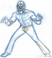 rey mysterio sketch by AlanSchell