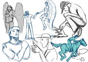 A-team Sketchdump 05 animals by limpet666