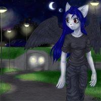 Walking home at night by hellena