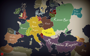 Map of Europe - 1025 by Conturi-Hakudoushi