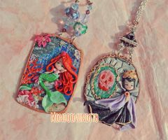 Ariel and Grimilde clay painting by mondoinundito