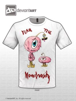 Fear the Monstrosity - White shirt version by Xatruch