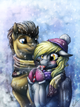 Sharing Warmth by LupiArts