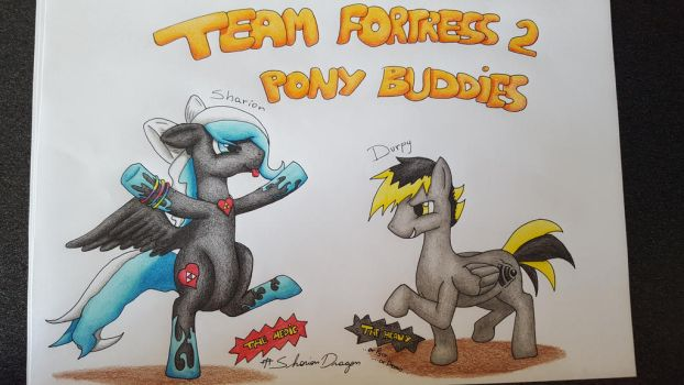 Team Fortress 2 - Pony buddies by SharionDragon