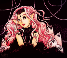 Pink Lace by tea-bug