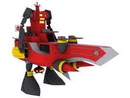 3D Dai Gurren by Ultimatetransfan