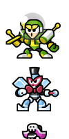 "MegaMan ""Sprites""-r+fFC Bosses by WaneBlade"
