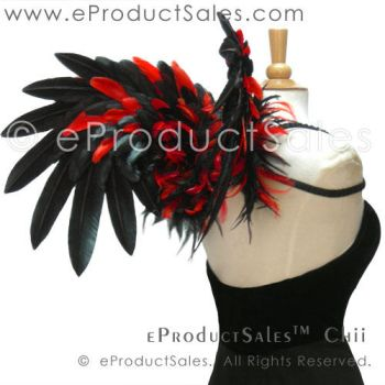 Black and Red Chii Feather Angel Wings by eProductSales