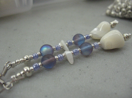 Blue bead Earrings by sampdesigns