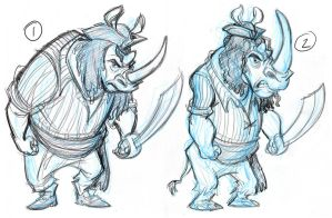 Rhino Pirate designs by tombancroft