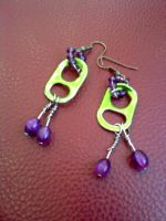 Monster Tab Earrings by dollfacetosomeone