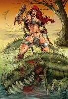 Red Sonja color by Marcello Holanda by MarcelloHolanda