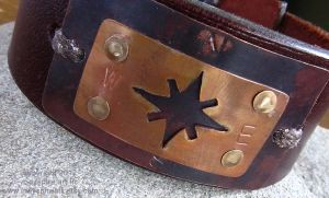 Men's Cuff - Compass Rose by indyspireArt