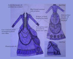 Purple Bustle Dress by LotD