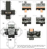 minecraft army papercraft free by tomfoxy