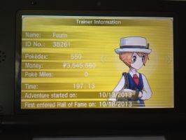 Pokemon Y: Golden Trainer Card by Hantwo