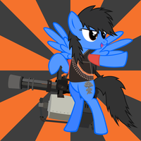 TF2 Pony Heavy Danger Shadow by Mantisprayer22