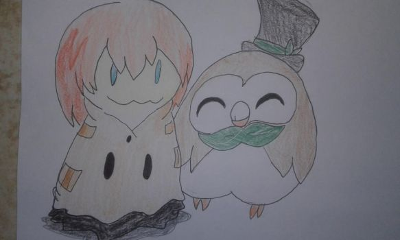 AT : Rowlet and Mimikyu Luke.  by FelixNFox