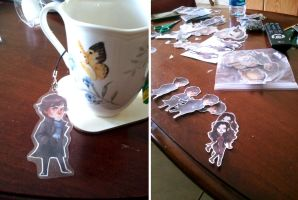 keychains and stickers, oh my! by Spikie