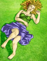 LA - Anna on the Grass by ChocoboGoddess